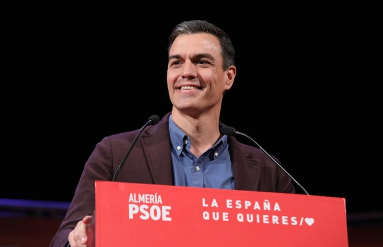 Pedro Sánchez during a pre-campaign event. / Photo: PSOE