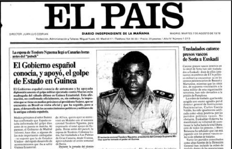 El País' cover in August 1979.