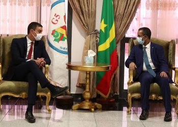Sánchez with the president of Mauritania / Photo: Pool Moncloa/Fernando Calvo